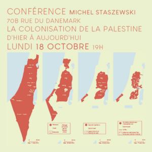 Conférence-débat : La colonisation de la Palestine, d'hier à aujourd'hui